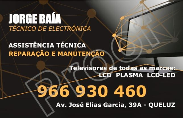 Técnico em Reparações de televisores em Queluz.