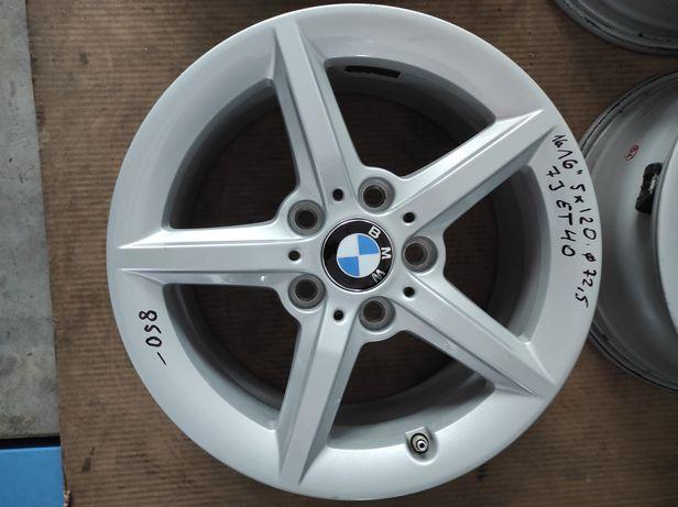 16 Felgi aluminiowe ORYGINAŁ BMW R 16 5x120 otwór 72,5 Bardzo Ładne