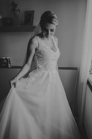 Suknia ślubna biała kolekcja 2020 r 34