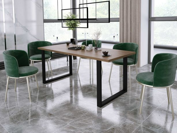 Stół industialny w stylu loftowym, skandynawskim, metalowe nogi