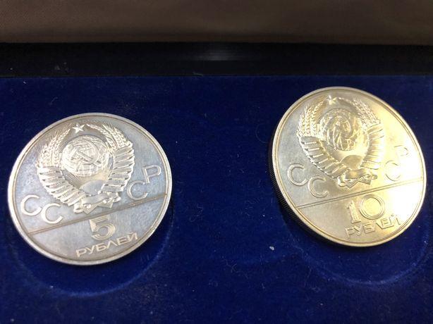монеты СССР олимпиада серебро