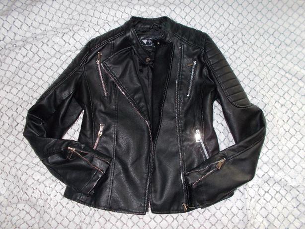 H/M ramoneska kurtka skóra S eco 36 motocyklowa czarna nowa
