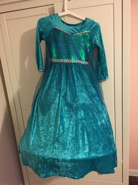 Suknia balowa , karnawałowa dla dziewczynki rozm.128 okazja