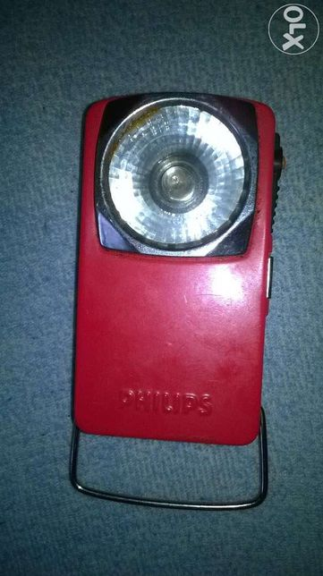 metalowa latarka PHILIPS stylowa retro vintage