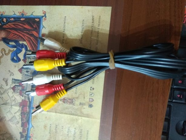 Kabel audio 3 x RCA 1,2m 1,0m czincz męski