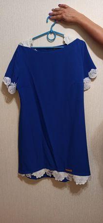 Летнее Женское платье для работы 48 размера