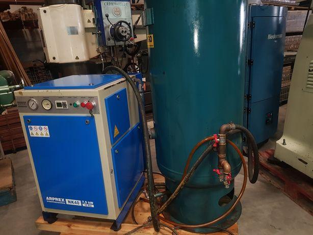 Compressor de parafuso e tanque de 500 litros