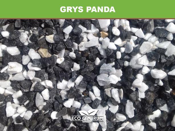 Grys PANDA czarno biały kamień do ogrodu, otoczaki DUŻY WYBÓR!