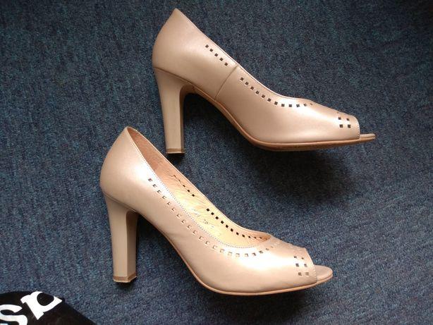 Кожаные туфли, размер 37, Польша