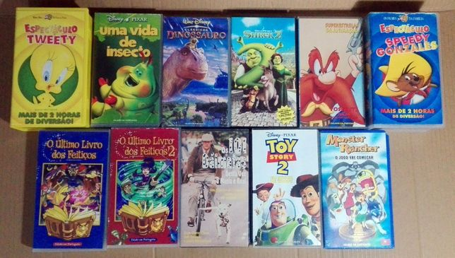 Cassetes VHS Filmes crianças (vintage)