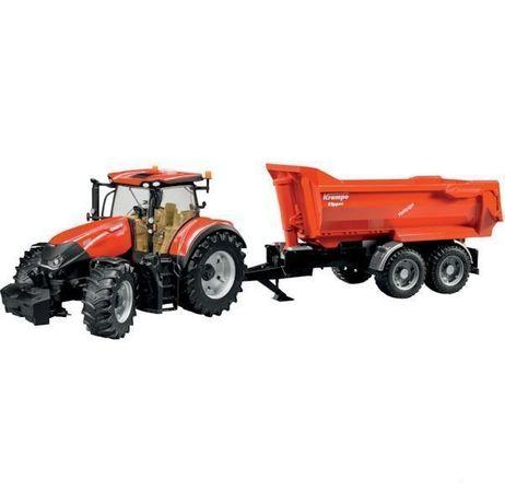 Bruder traktor case ih optum 300 z przyczepą Bruder