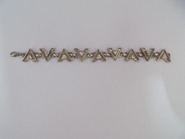 Piękna, damska bransoletka - srebro 925 - Trójkąty - 29.07 g.