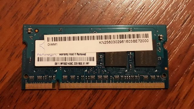 Оперативная память для ноутбука SO-DIMM 256MB DDR2-667