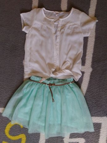 Komplet spódnica Zara i bluzeczka Reserved