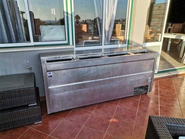 Arca de frio horizontal refrigerador de bebidas com 4 gavetas