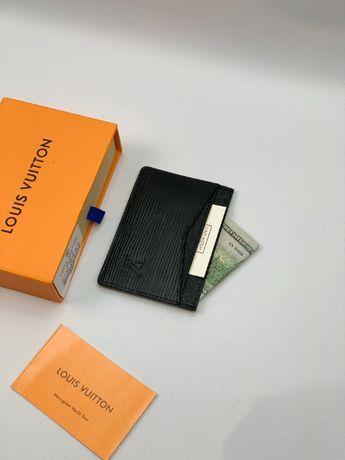 Мужской кардхолдер кошелек бумажник визитница LV Louis Vuitton k299