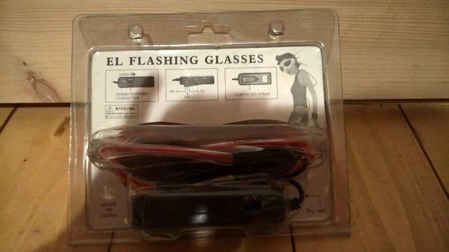 Okulary imprezowe LED gadgety na imprezę Okazja!