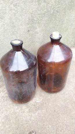Продам бутыль из темного стекла 5 л.