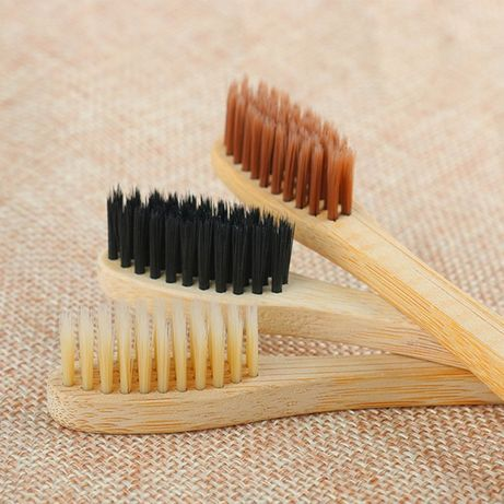 Bambusowa miękka szczoteczka do zębów EKO żółte, białe lub czarne