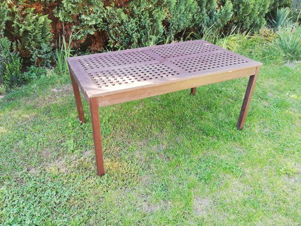 Stół ogrodowy drewniany tarasowy 90x155cm
