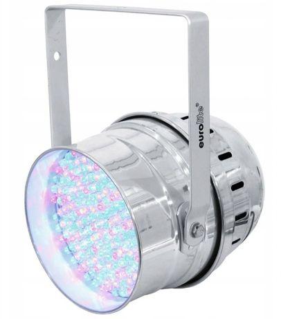 Reflektor sceniczny EUROLITE LED PAR 64 RGBA.Tanio.Mega Okazja!!