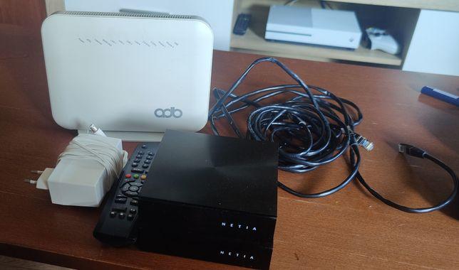 Router netia adb i 2 dekodery