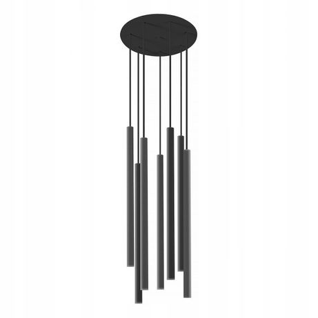 Czarna lampa wisząca tuba tuby 7 x G9 LASER BLACK X Nowodvorski 8920