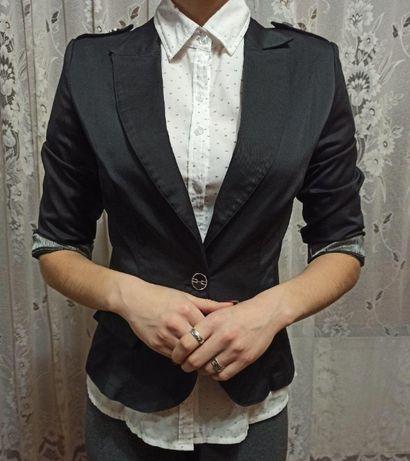 Школьный чёрный пиджак для старшеклассниц,размер S