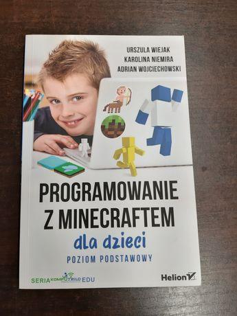 Książka,  programowanie z minecraftem dla dzieci.