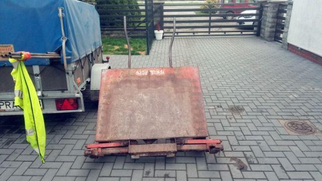 Wózek do kostki brukowej brukarski