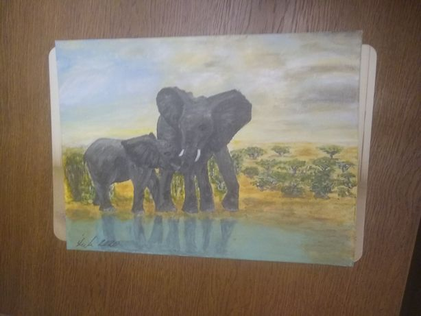 Obraz malowany ręcznie akrylami