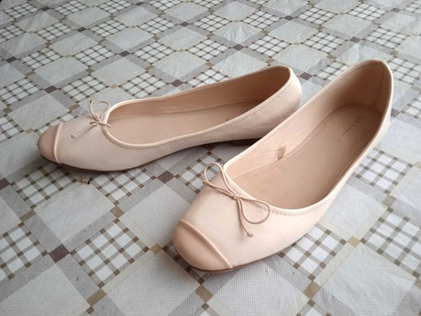 Базовые бежевые балетки Zara