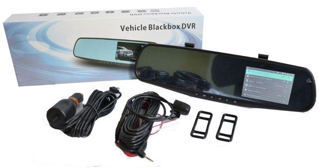"""Регистратор зеркало 3,6"""" DVR 138, видеорегистратор+камера заднего вида"""