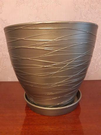 Вазон для цветов керамика