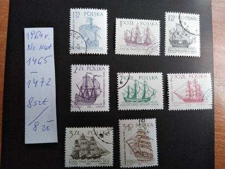 Znaczki pocztowe Polska 1964r seria