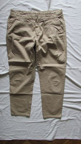 spodnie chinosy ZARA Basic XL bawełna