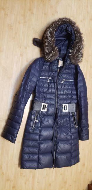 Куртка пухова з натуральним хутром