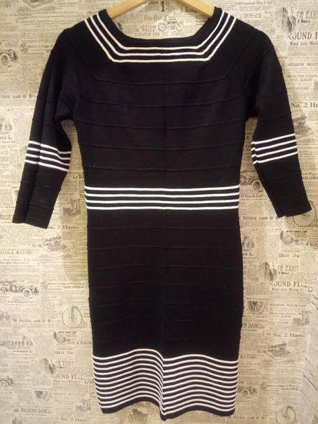 Sukienka czarno-biała bon-prix
