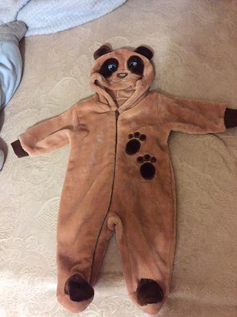 Комбинезон человечек медведь