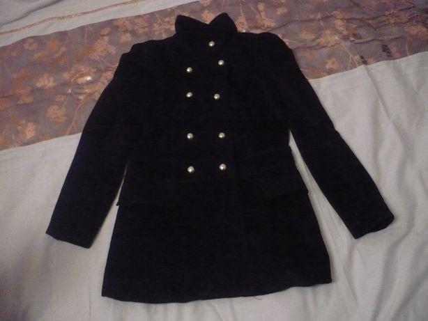 płaszcz czarny (Brak guzika)
