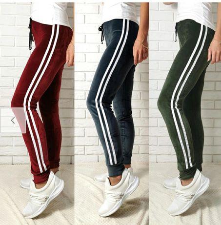 Spodnie welurowe damskie Mix kolorów