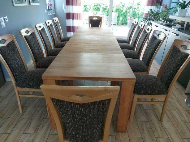 Rozkładany Drewniany Stół z krzesłami