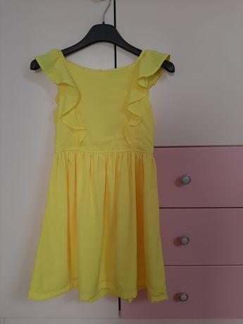 Żółta sukienka H&M