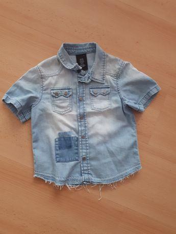 Koszula jeansowa r.98 2-3lata Gratis koszula