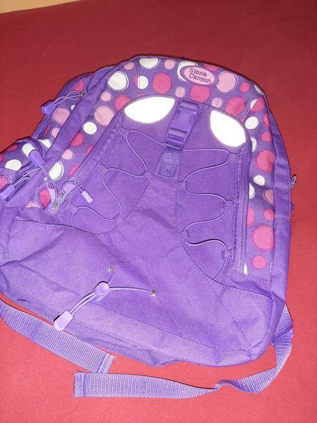 Plecak szkolny dziewczynka liczne kieszonki fioletowy
