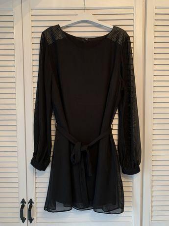 Sukienka tiulowa, wstawki skórzane, 5 XL,4XL 3XL.