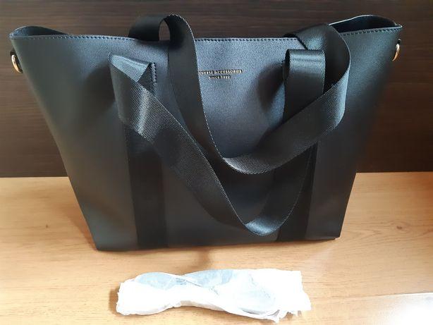 Duża torba Diverse shopper czarna
