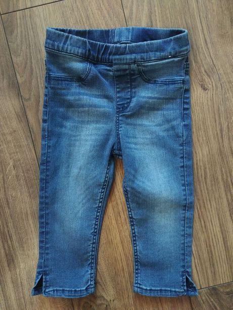 H&M jeansowe spodnie capri 104