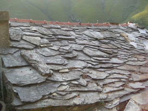 Lajes em xisto para telhados