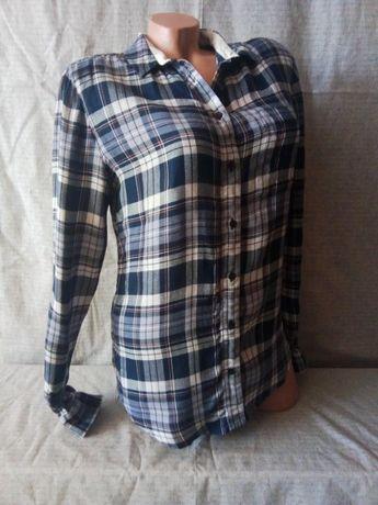 Рубашка в клетку синяя вискоза Jack Wills